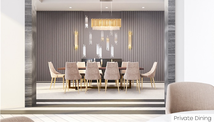 Nahid Kennedy Condos - private dining area - 615 kennedy road