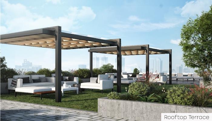 Nahid Kennedy Condos - rooftop terrace - new scarborough junction condos
