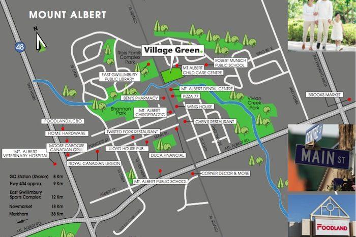 Village Green Towns - amenities map