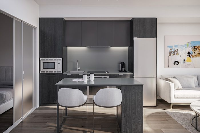 1 Jarvis Condos - Kitchen-with-Island---Ombre