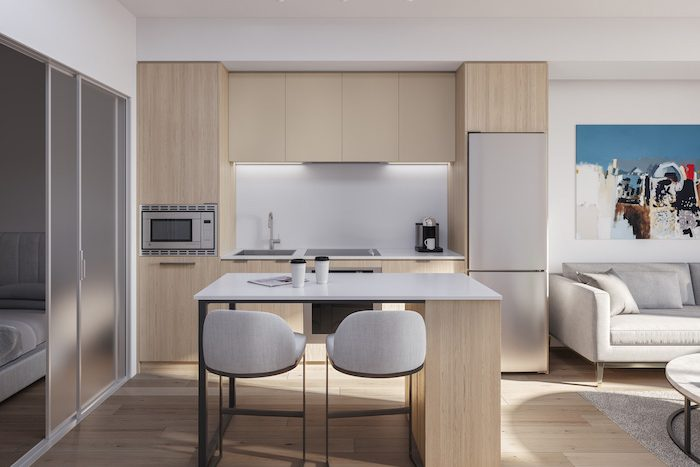 1 Jarvis Condos - Kitchen-with-island---Neige