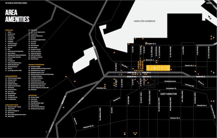 1 Jarvis Condos - area amenity map