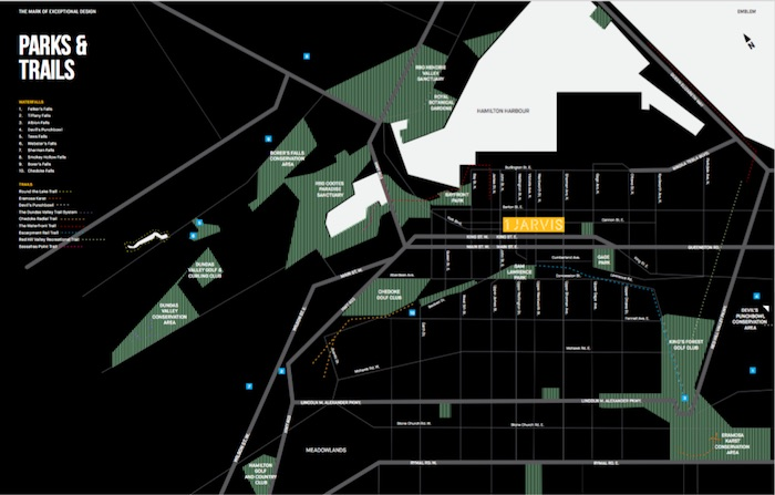 1 Jarvis Condos - parks and trails map