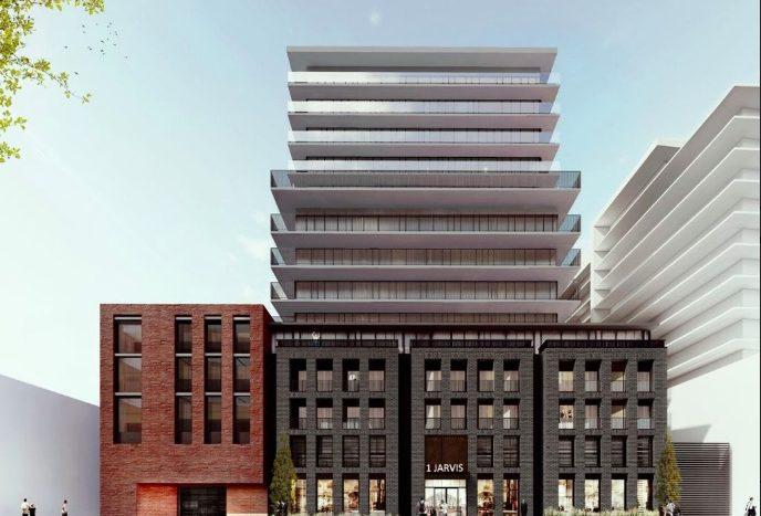 1 Jarvis St - street view 2 - new hamilton condos