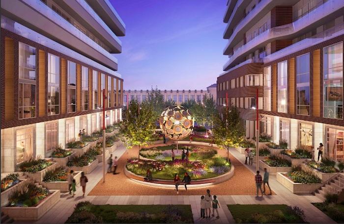1319 Bloor West - plaza view - new brockton village condos