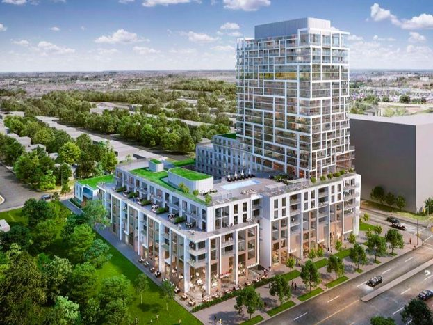 9825 Yonge St - aerial view - new richmond hill condos