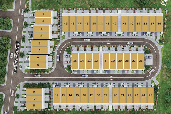 Harris Gate Towns - Site Plan - new richmond hill townhomes
