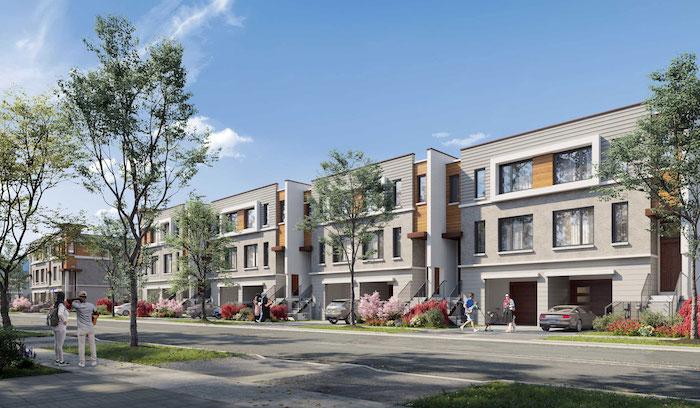 Harris Gate Towns - street view 1 - new richmond hill townhomes