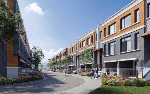 Harris Gate Towns - street view 2 - new richmond hill townhomes