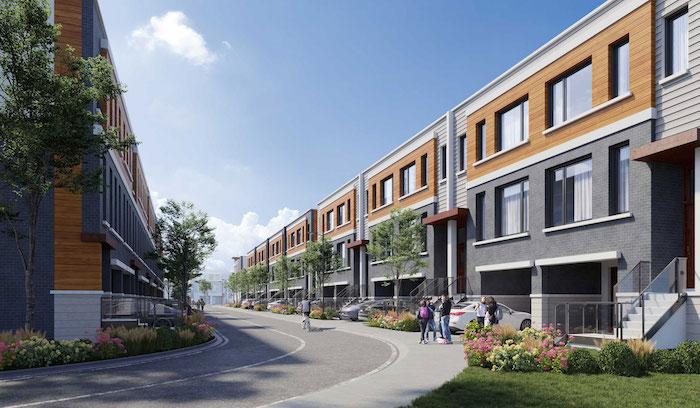 Harris Gate Towns - street view 2 - new richmond hill townhomes