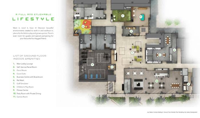 Joy Station Condos - indoor amenities