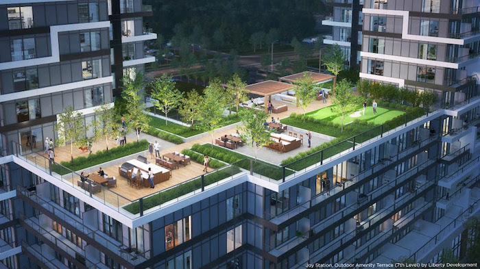 Joy Station Condos - rooftop view