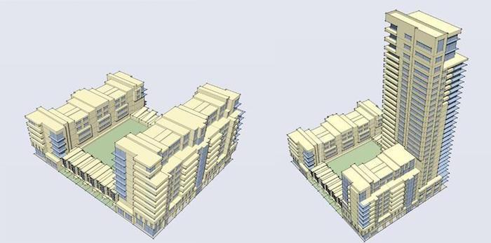 Langstaff Gateway - aerial renderings