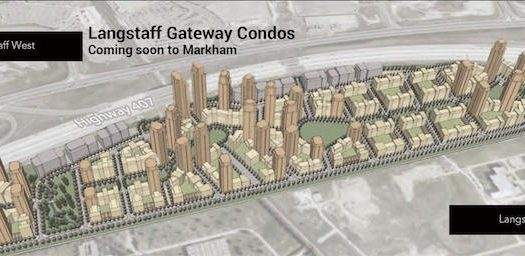 Langstaff Gateway - aerial site view - markham new condos