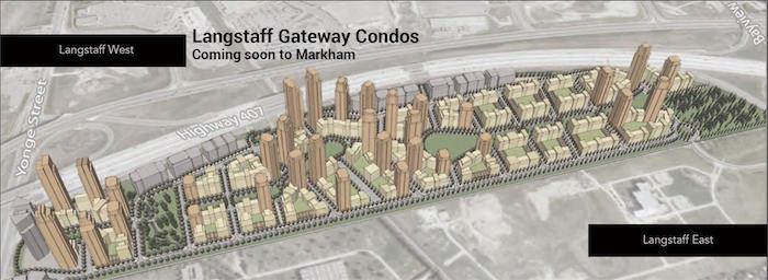 Langstaff Gateway - aerial site view - markham new condos