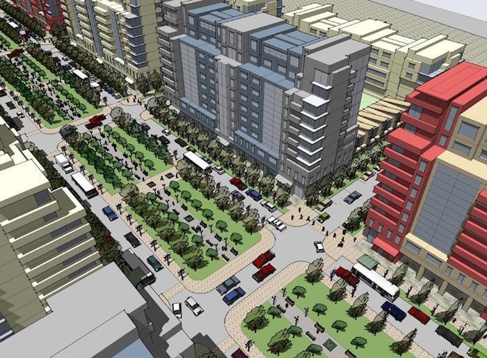 Langstaff Gateway - plaza view