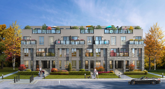 Richmond Hill Grace Townhomes - front view