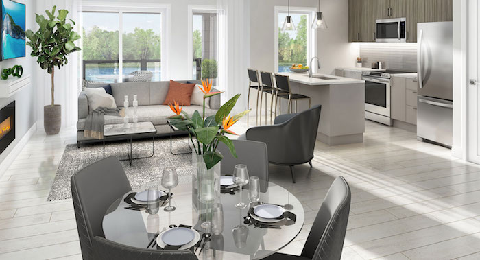 Richmond Hill Grace Townhomes - living dining room