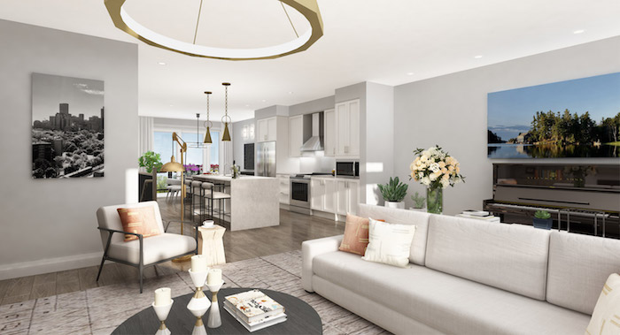 Richmond Hill Grace Townhomes - living room and kitchen