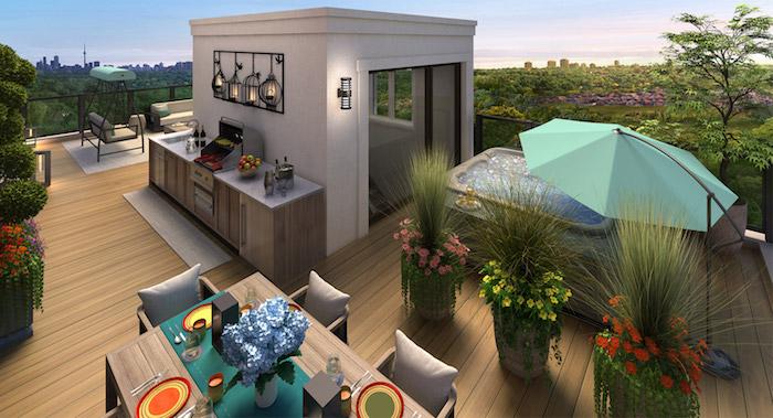 Richmond Hill Grace Townhomes - rooftop deck