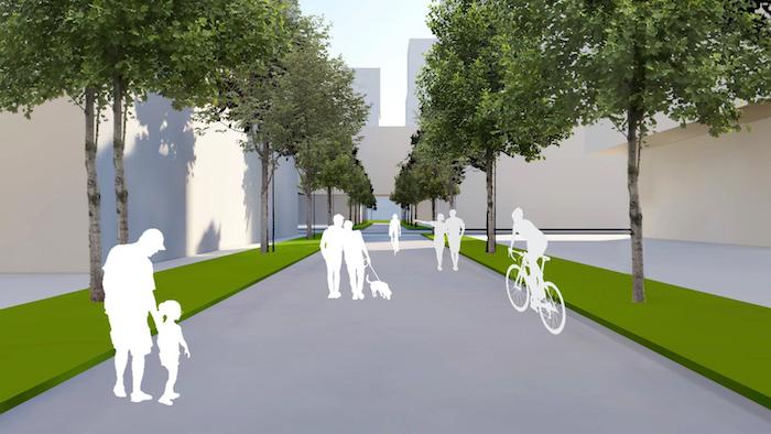 1900 Eglinton East - pedestrian path