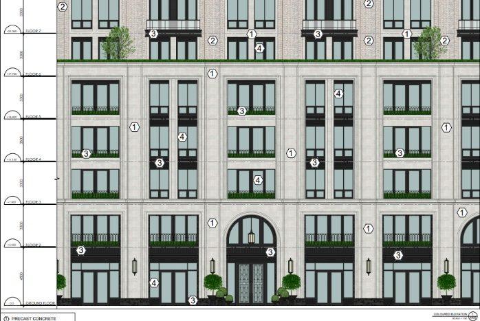 3180 Yonge St - facade materials