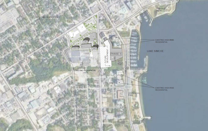Barrie Lakeshore Condo Development - location map - barrie waterfront condos