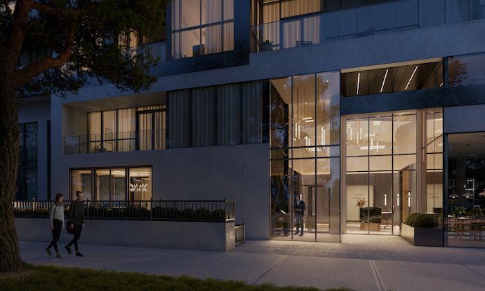 Bayview at TheVillage- Outdoor Terrace _ Exterior Lobby
