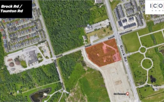 Brock Rd & Taunton Rd Towns - site map - new townhomes in pickering