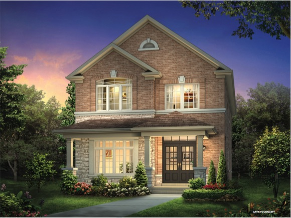 Cornell Rouge Phase 7 (Forest Hill) - grey brick detached - new cornell homes and towns