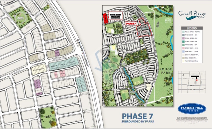 Cornell Rouge Phase 7 (Forest Hill) - site map