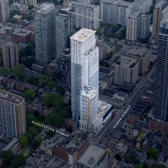 Gloucester on Yonge Condos - aerial view