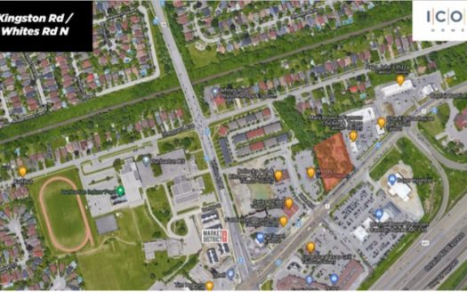 Kingston Rd & Whites Rd Towns - site map - new pickering townhomes