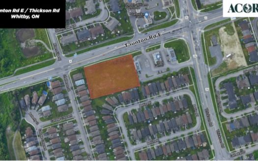 Taunton Rd & Thickson Rd Towns - site map - new townhomes whitby