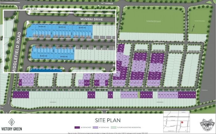 Victory Green (Remington) - townhome site plan
