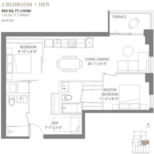 Cardiff Condos - condo assignment floor plan