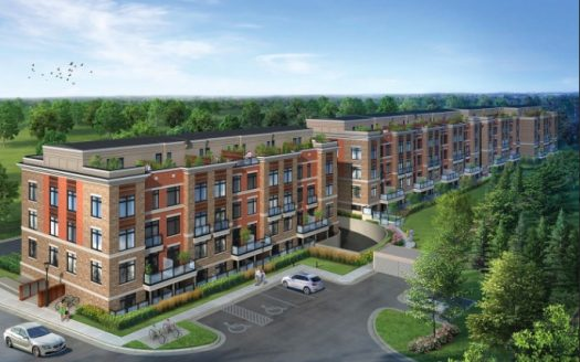 High Point Urban Towns - aerial view - new richmond hill townhomes