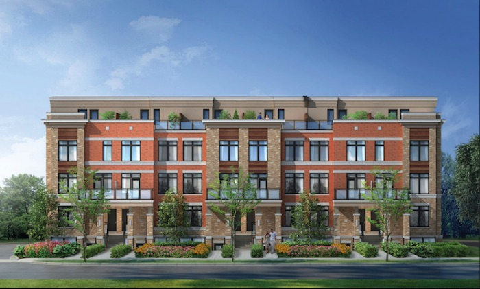 High Point Urban Towns - front view - 60 arnold crescent townhomes