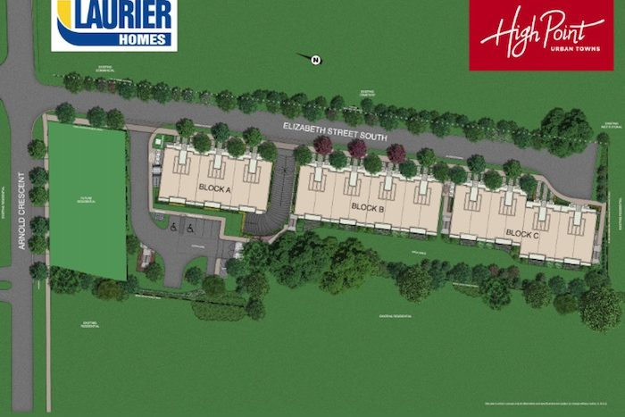 High Point Urban Towns - site map - 60 arnold crescent townhomes