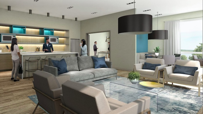 LakeVu Condos - indoor lounge - new barrie condos