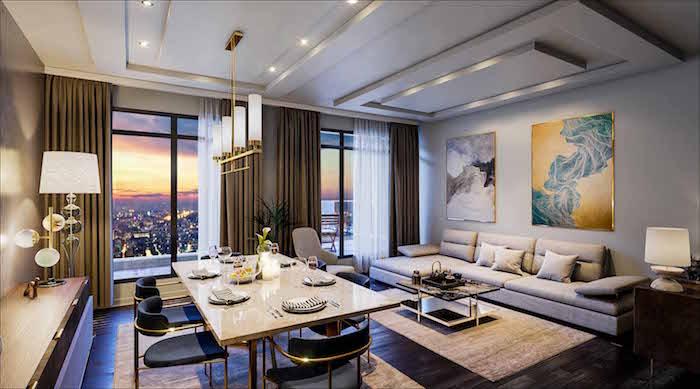 Nahid on Broadview Condos - living room