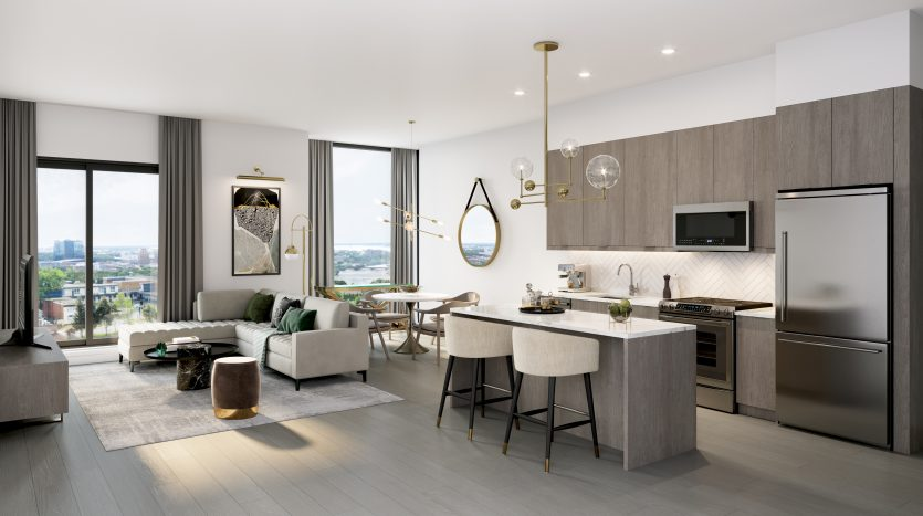 Stanley District Condos 2 - Kitchen-Dining-Living Final