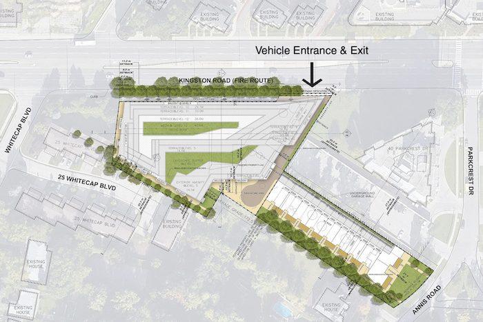 3355 Kingston Rd condos - site plan