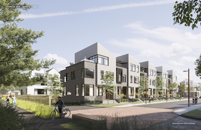 Brightwater Towns - exterior_-_benson_trail - new port credit townhomes