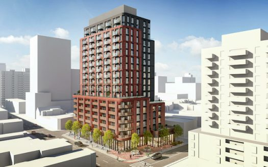 1425 Bloor St West Condos - southward view