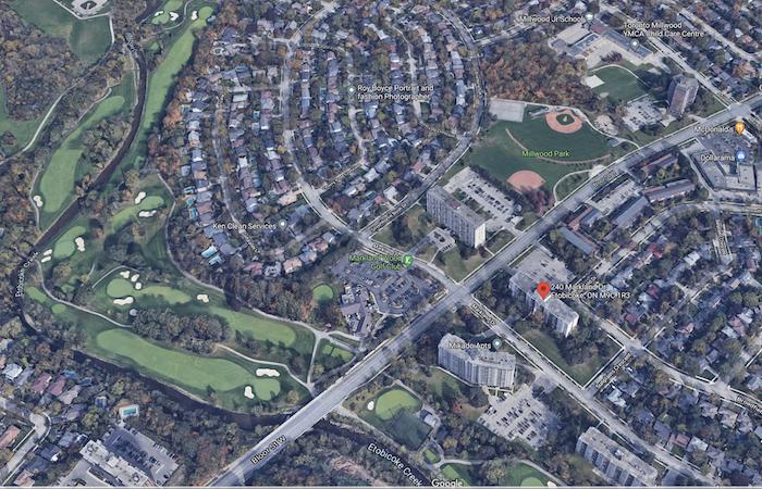 240 Markland Dr Condos - aerial view