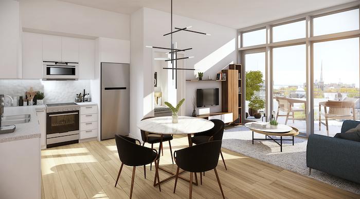 Crown Condos - kitchen living room - kingston condos