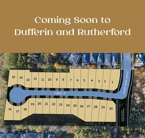 Homes at Dufferin Vistas - site plan - vaughan homes