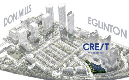 Crest at Crosstown Condos - site plan - 844 don mills rd